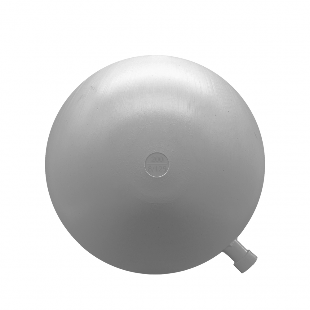 Boya redonda plástico 200mm rosca 8/125